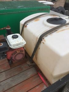 Water tank with gas engine