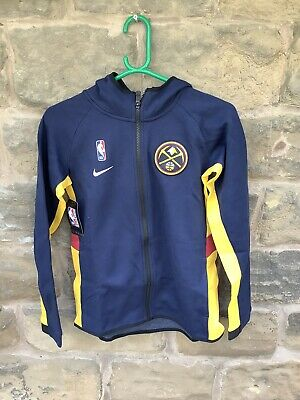 Brand New With Tags Nike NBA Denver Nuggets Hoodie Navy Medium Youth 10/12
