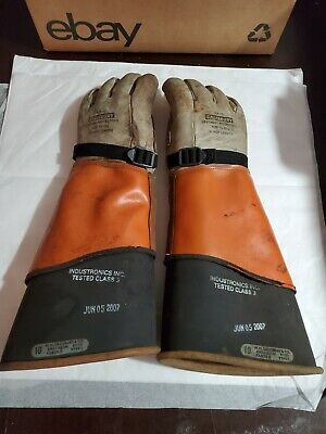 Salisbury 16 Lineman Gloves Sleeves Ilp-7c Size 10-10 12 Class 3