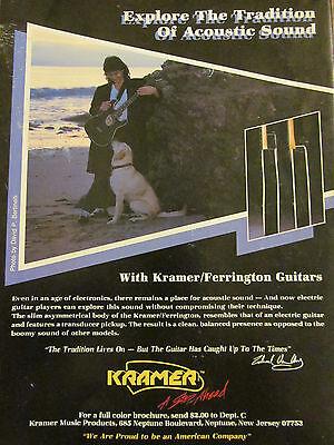 Eddie Van Halen, Kramer Guitars, Full Page Vintage Promotional Ad