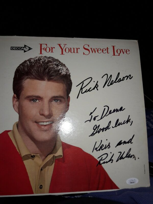 Ricky Nelson Signed For Your Sweet Love Record Album Cover JSA COA
