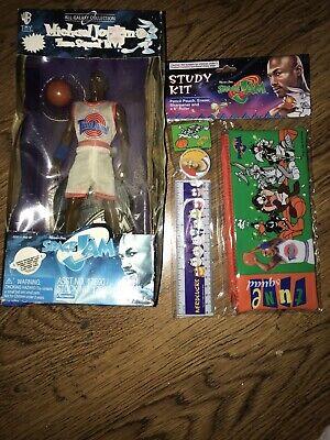 Vintage Space Jam Michael Jordan Tunes Squad  MVP Doll Figure+study Kit 90s