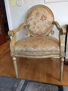 TWO BEAUTIFUL ANTIQUE LOOK CHAIRS