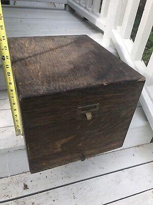 Macey Tiger Oak Wood Library File Cabinet Organizer Vintage