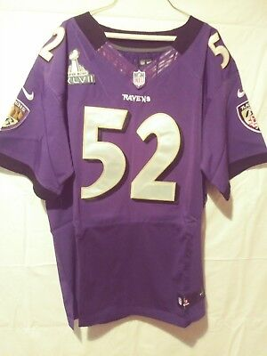 bcdb13995 Baltimore Ravens Ray Lewis Purple Superbowl Jersey.Great collectors item