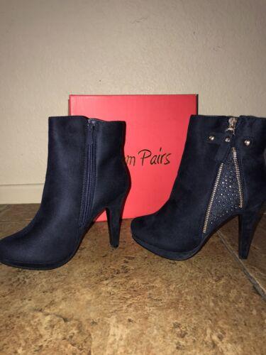 DREAM PAIRS Women Suede Heel Ankle Boots Zip Up Booties Shoe