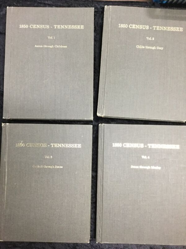 1850 Census Tennessee Vol 1-8 1974 Complete Set