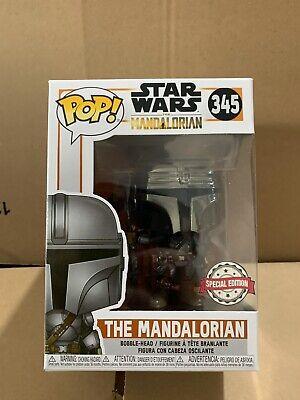 Funko Pop Star Wars The Mandalorian Chrome Beskar Exclusive Read