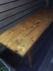 Free long solid wood table