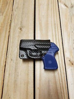 Concealment Holster - Concealment Ruger LCP 380 IWB Carbon Fiber Black KYDEX Holster Right Hand