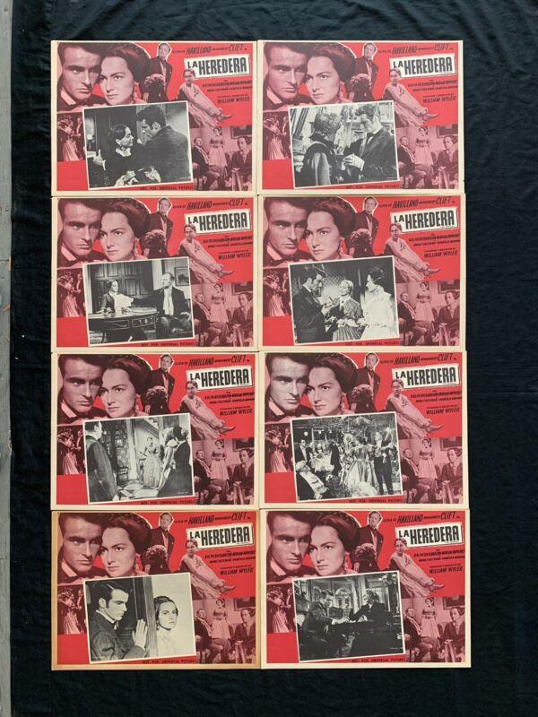 THE HEIRESS Olivia de Havilland Montgomery Clift MEXICAN LOBBY CARD SET Unused