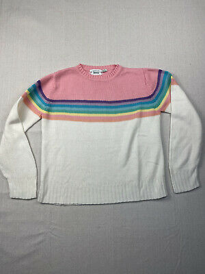 80s Sweatshirts, Sweaters, Vests | Women Vintage 1980s Rainbow Sweater A1581 $27.20 AT vintagedancer.com