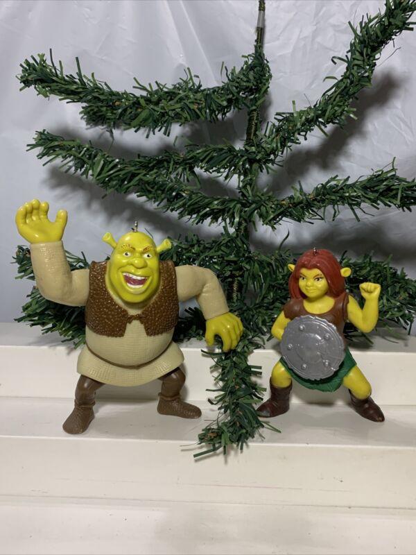 Shrek & Fiona Christmas Ornaments Dream Works