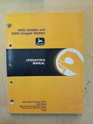 John Deere 604g Skidder And 648g Grapple Skidder Operators Manual
