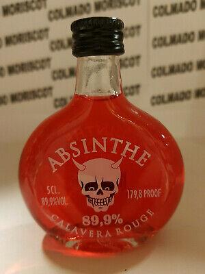 ABSENTA CALAVERA ROUGE 5cl 89,9miniatura mignonette minibottle flaschen ABSINTHE
