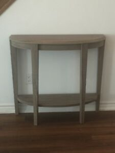 Hall Table - solid wood with grey rustic finish