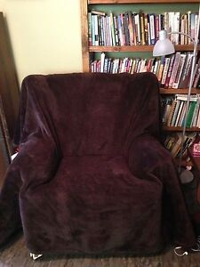 Comfy reading chair and ottoman