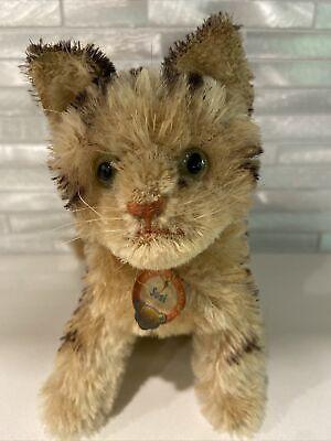 Vintage RARE Steiff Mohair Tabby Cat - SUSI - With Collar Tag, Swivel Head