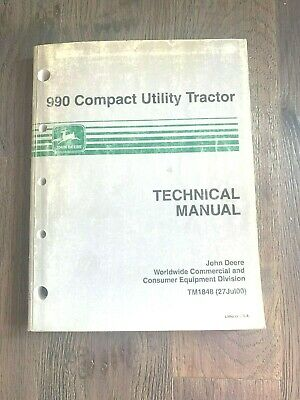 2000 John Deere 990 Compact Utility Tractor Technical Manual Tm1848
