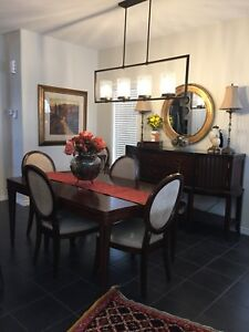 Dining Table, 6 Chairs, Buffet