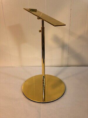 Sandal Shoe Store Display Stand Shoe Supports Show Rack Stands Metal Gold