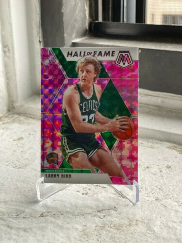 2019-20 PANINI MOSAIC BOSTON CELTICS LARRY BIRD HALL OF FAME PINK CAMO PRIZM