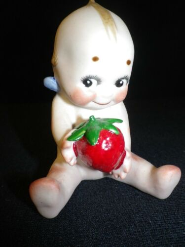 """3"""" Artist Made Porcelain Action Kewpie with Strawberry"""