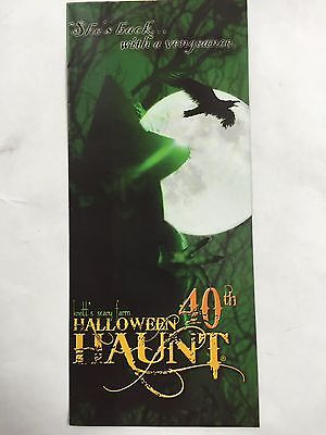 KNOTTS BERRY SCARY FARM HALLOWEEN HAUNT PARK MAP BROCHURE 40th GREEN - Halloween Haunt Green Witch