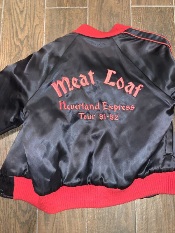 Meat Loaf Authentic Bomber Tour Jacket Neverland Express Small Mint S Rare 81-82