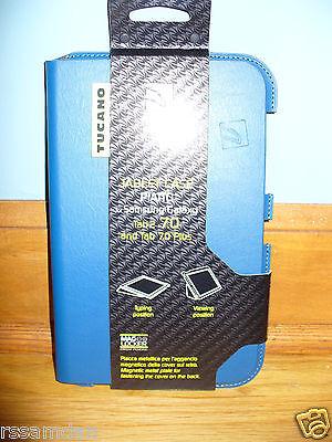 "Tucano Tablet Folio Case For Samsung Galaxy Tab 2 7"" & Tab 7.0 Plus (Blue) NEW!"