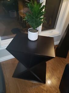 Glucktein solid wood expresso side table Innisfail