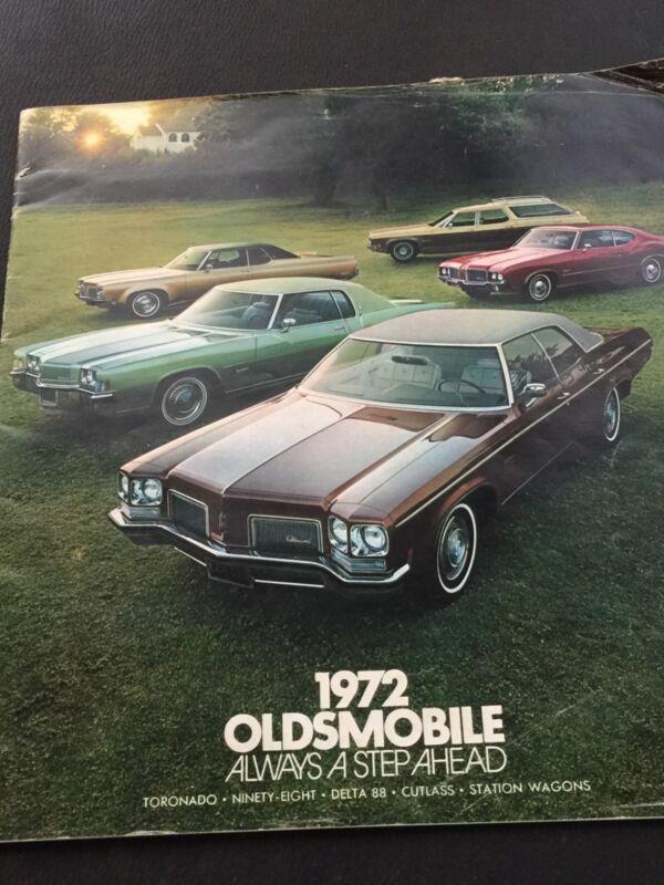 1972 Oldsmobiles Original Manufacture Brochures