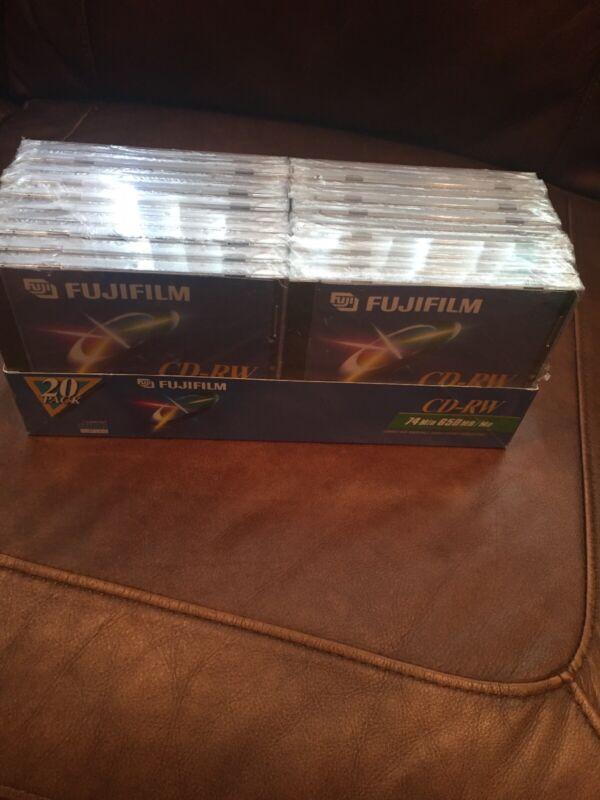 Fujifilm Blank CD-RW Discs Box Of 20 74 Minutes 650MB Package Still New!