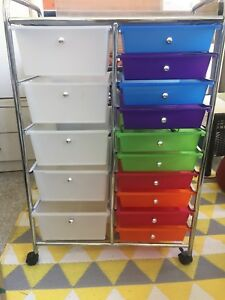 Rolling drawer trolley. Crafts etc