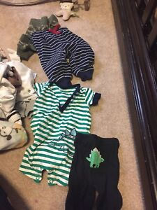 Newborn and 0-3 month boy clothes lot