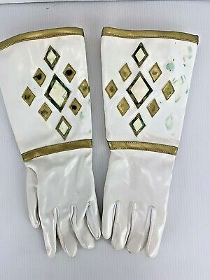 Power Rangers Gloves White Tommy 1995 Mighty Morphin - Original Power Ranger Kostüme