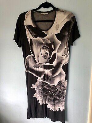 Jonathan Saunders Negative Print Flower T-shirt Dress, Small