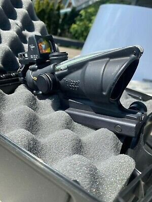 Trijicon TA31F-G-RMR Rifle Scope,ACOG 4x32 Dual illum green chevron .223 w/rmr