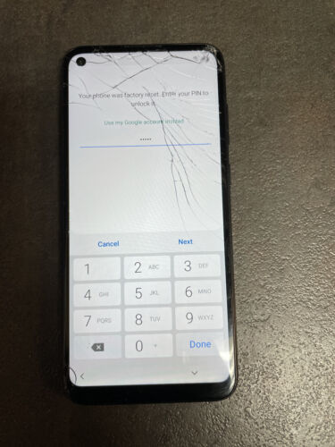 Parts Only Samsung Galaxy A11 Smartphone G-locked Cracked Screen  - $15.50