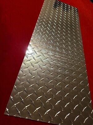 .063 Diamond Plate Tread Brite Aluminum 12 X 36 3003 116 1 Pc Free Shipping
