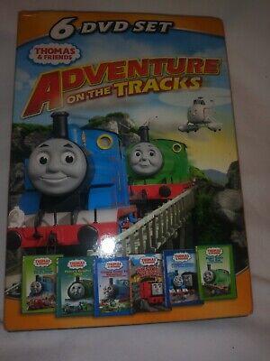 Thomas & Friends the Train Adventure on the Tracks 6 DVD Lot Set - 228 Minutes!