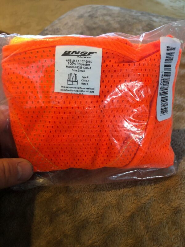 New BNSF Safety Vest Size Small