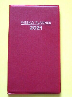 2021 Red Weekly Planner Pocket Purse Small Mini Calendar Organizer Holidays