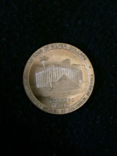 1962 Seattle worlds fair official medal
