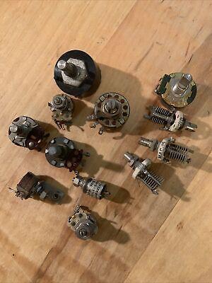 1 Lot Of 12 Vintage Potentiometers