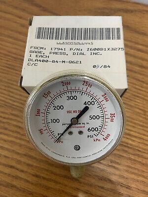 Vtg. Cpi Pressure Gauge 2.5 4000 Psi Brass Lower Mount Pn Z600b1x3275 Nos