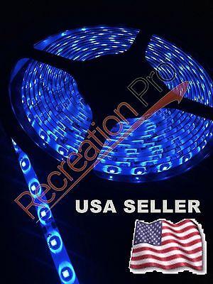 NEW 25' MARINE BOAT BLUE IP68 WATERPROOF LED STRIP LIGHT 60LED/M WHITE PCB