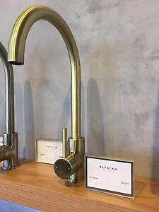 NEW ARRIVAL !! - BRUSHED BRASS ELYSIAN KITCHEN MIXER Burleigh Heads Gold Coast South Preview