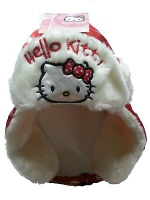 Winter-  Mütze Cap mit Fell    Hello Kitty   NEU Gr. 52 & 54 ()