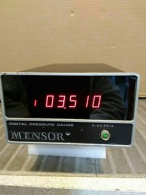 Mensor Digital Pressure Gauge 0- 50 Psia Powers Up Good For Parts.